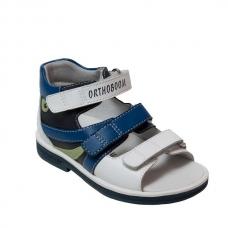 Ортопедические сандалии арт.43397-5 синий-голубой-белый