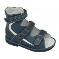 Ортопедические ботинки летние арт.71597-33 темно-синий-белый