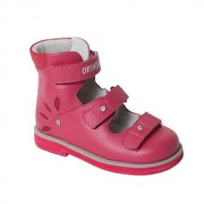 Ортопедические ботинки летние арт.81597-32 брусничный