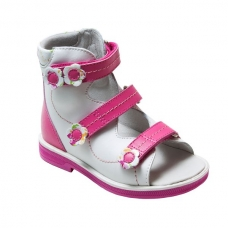 Ортопедические ботинки летние арт.71497-2 бело-розовый