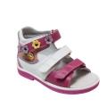 Ортопедические сандалии арт.43397-4 бело-розовый