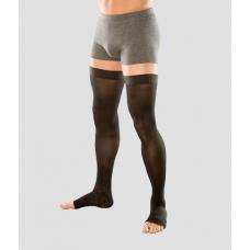 Чулки мужские с силиконовым фиксатором и открытым носком
