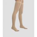 Чулки женские с силиконовым фиксатором и открытым носком